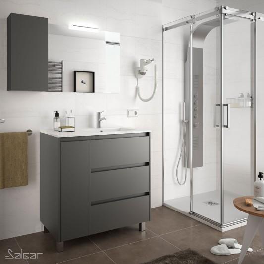 Mueble baño Arenys de 85 Desplazado Izq y Der.