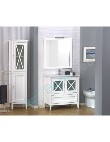 Muebles de baño Avila en madera de pino