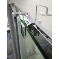 Mampara de ducha frontal TRIANA TN102 de Kassandra. Frente fijo más puerta corredera