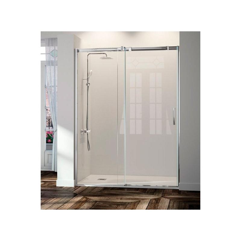 Como colocar una mampara de ducha fija seviban modelo for Colocar puerta corredera
