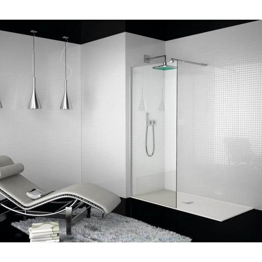 Mampara de ducha hoja fija 300 TR003 y fijo opcional TR004 de Kassandra