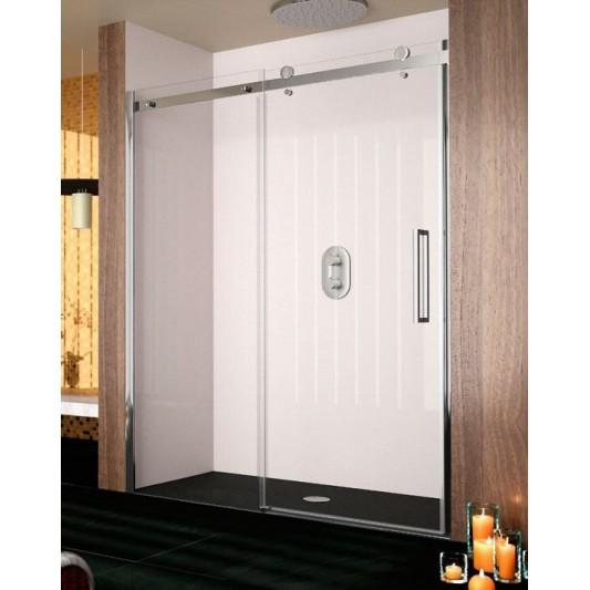 Mampara de ducha frontal LIBERTY LI102 de Kassandra. Frente fijo más puerta corredera.