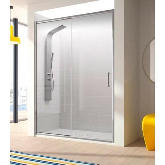 Mampara de ducha frontal BELLA Kassandra. Frente fijo más puerta corredera