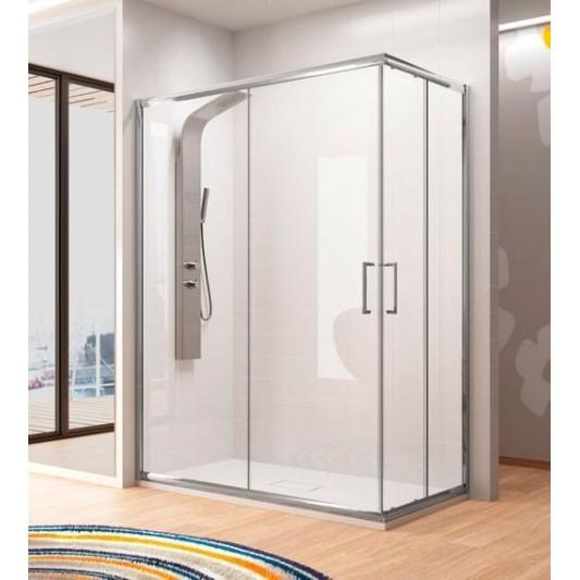 Mampara de ducha angular BELLA BL607 Kassandra. Apertura esquina.