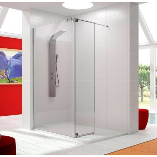Mampara de ducha hoja fija mas abatible fresh fr423 de - Mampara fija ducha ...