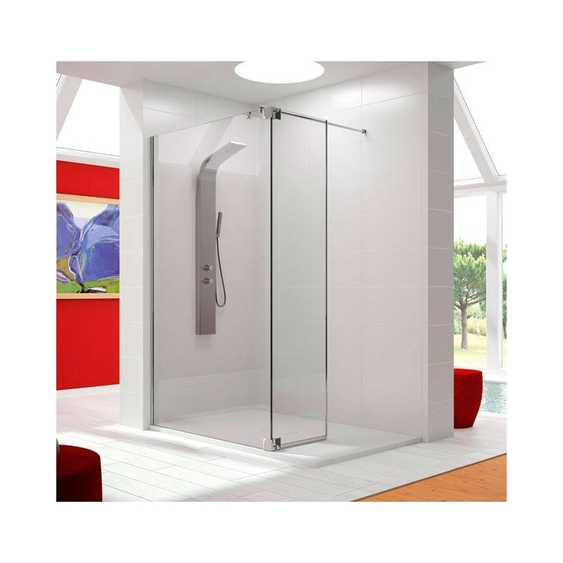 Mampara de ducha hoja fija mas abatible fresh fr423 de - Mamparas abatibles para ducha ...