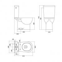 Wc Optima cifial mecanismo simple y herrajes nylon