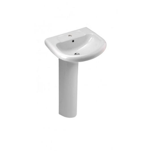 Lavabo con pedestal eden cifial de 50 cm ba for Muebles de lavabo de 50 cm