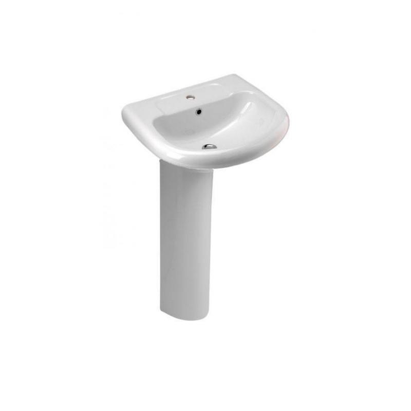Lavabo con pedestal eden cifial de 60 cm ba for Muebles de lavabo de 60 cm