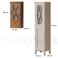 Avila 90 Mueble de baño pino