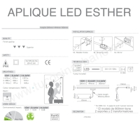 Aplique Led Esther 498 mm