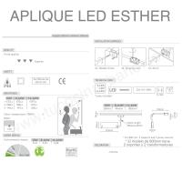Aplique Led Esther 800 mm