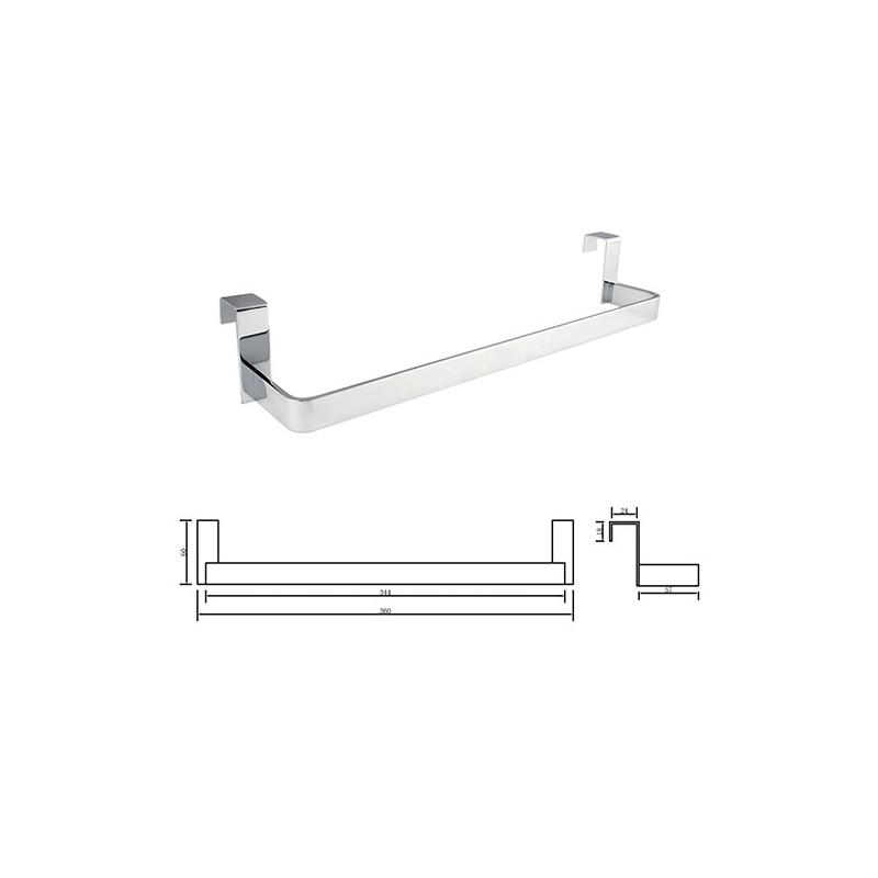 Toallero lateral 29 cm mueble de ba o fondo reducido for Accesorios de bano sin taladro