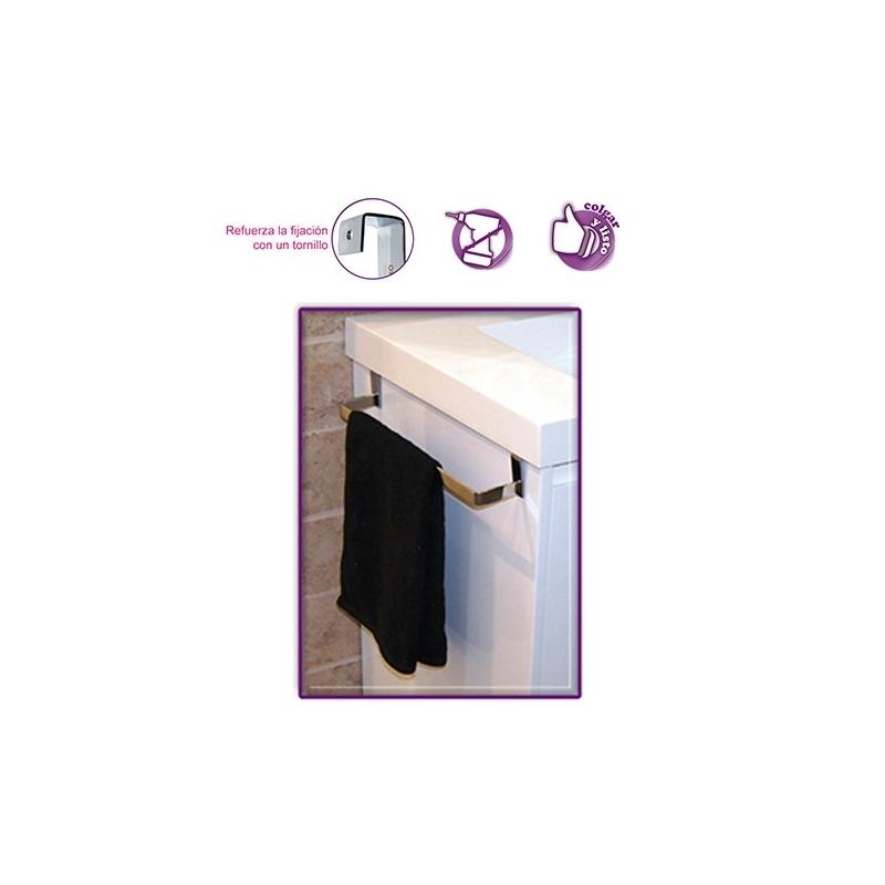 Toallero lateral 36 cm mueble de ba o sin taladro ba for Accesorios de bano sin taladro