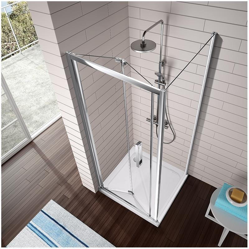 Mampara de ducha kassandra tr300 frontal con una puerta - Mampara plegable ducha ...