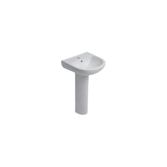 Lavabo con pedestal optima cifial de 50 cm ba for Muebles de lavabo de 50 cm