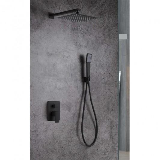 Sistema ducha empotrar Dublin Negro