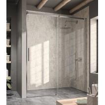 Mampara de ducha frontal LUNA LU102 de Kassandra. Frontal con 1 puerta corredera