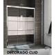 Mampara frontal de 3 puertas correderas CITY CT101 de Kassandra (lateral opcional)