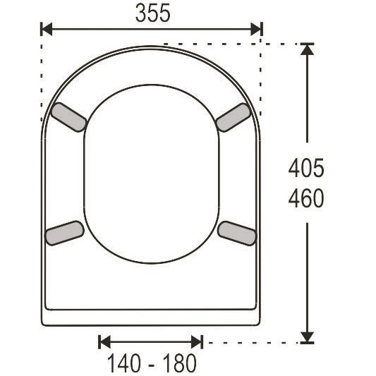 Tapa wc universal recto ba for Tapas de wc universales