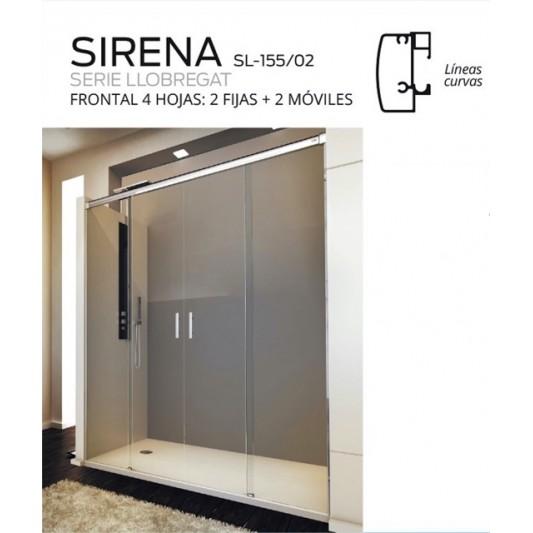 Mampara  2 puertas correderas SIRENA de Debaño