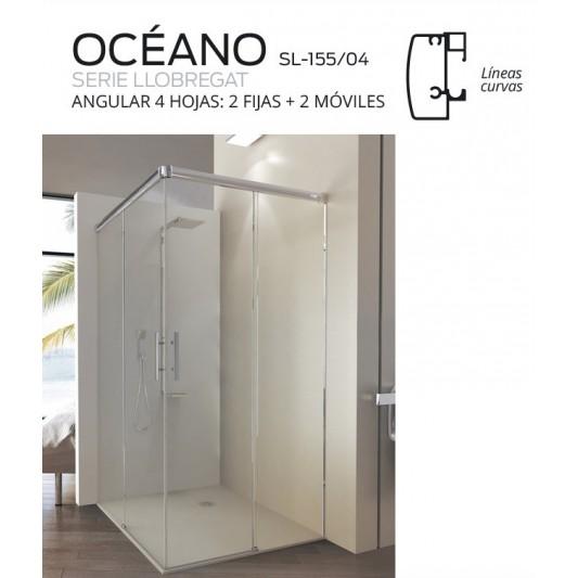Mampara 2f y 2 correderas OCEÁNO de Debaño