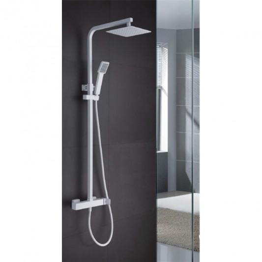 Sistema ducha Rociador acero Nantes/Fiyi Negro
