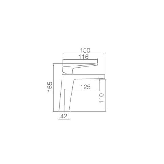 Grifo lavabo Monomando Art BDAR025-1