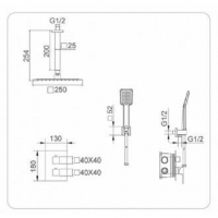 Sistema Empotrado Ducha Ons GPC010